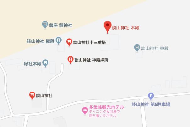 談山神社 紅葉 境内案内図