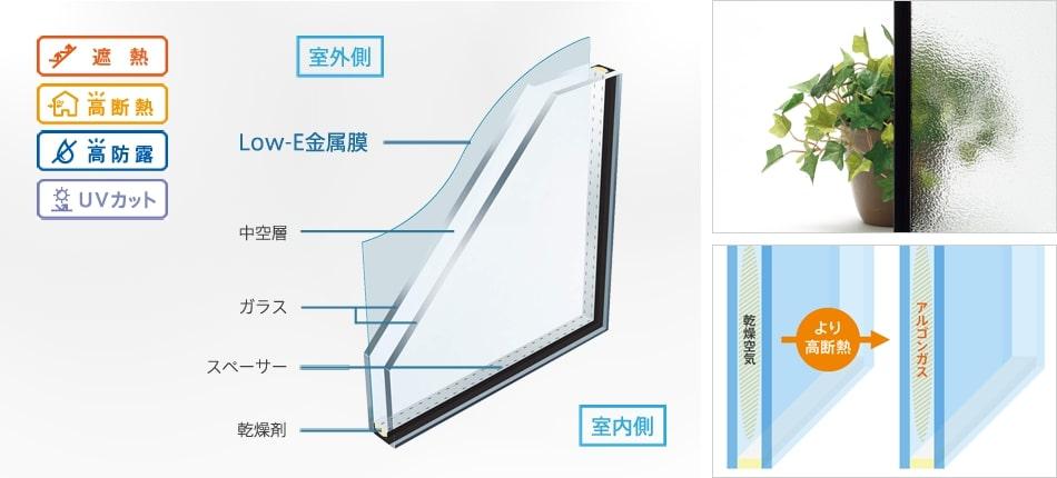 樹脂サッシ Low-Eガラス 窓