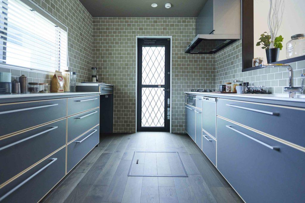 モデルハウス キッチン ブルックリンスタイル